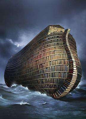 Literary Ark, Conceptual Artwork Poster by Smetek