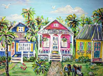 Little Beach Houses Poster by Doralynn Lowe
