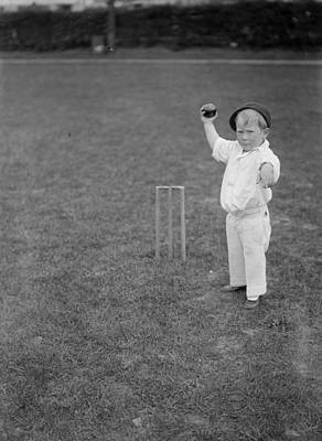 Little Boy Bowling Poster by Fox Photos