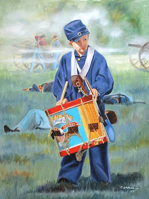 Little Drummer Boy Poster by Karen Wilson