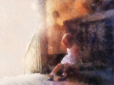 Little Girl Thinking Poster