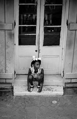Little Girl Waiting Poster by Shelly Stallings