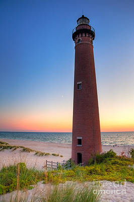 Little Sable Point Light Station Poster by Larry Carr