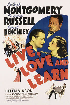 Live, Love And Learn, Robert Poster by Everett