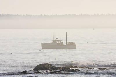 Lobster Boat Mount Desert Island Maine Poster