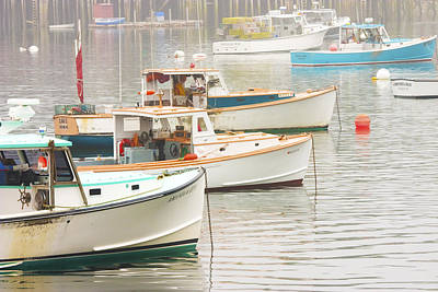 Lobster Boats In Bass Harbor Mount Desert Island Maine Photo  Poster