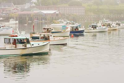 Lobster Boats Mount Desert Island Maine  Poster