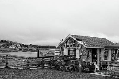 Lobster House Bw Poster