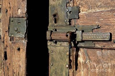 Lock Of Church. France Poster by Bernard Jaubert