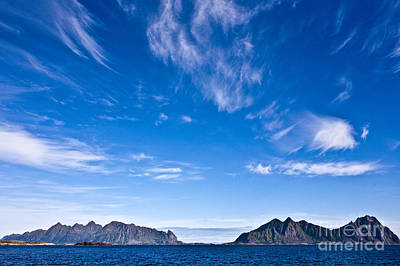 Lofoten Islands Skies Poster