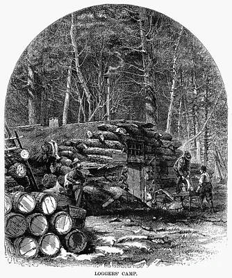 Loggers Camp, 1868 Poster by Granger