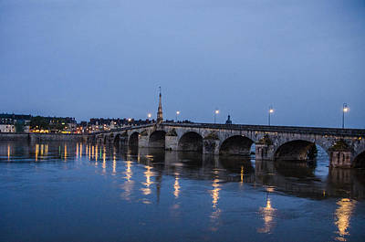 Loire River By Night Poster