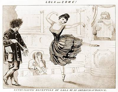 Lola Montez 1818-1861 Irish Dancer Poster by Everett
