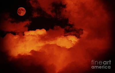 Lomo Moon And Clouds Poster