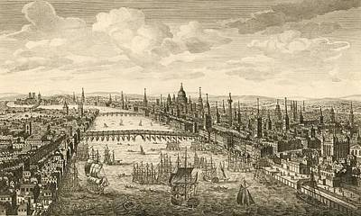 London And The Thames, 18th Century Poster