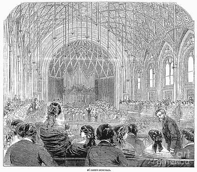 London: Concert Hall, 1858 Poster