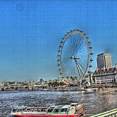 London Eye, #london #londoneye Poster by Abdelrahman Alawwad