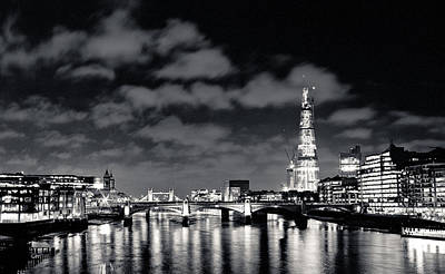 Poster featuring the photograph London Lights At Night by Lenny Carter