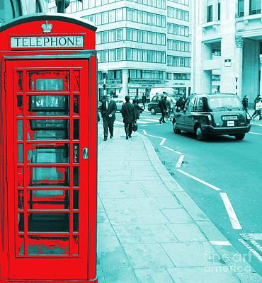 London Phone Booth Poster