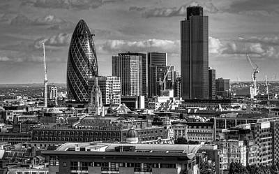 Poster featuring the photograph London Skyline Bw I by Jack Torcello