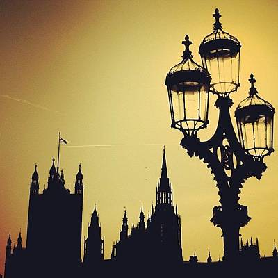 #london #westminster #londoneye #siluet Poster