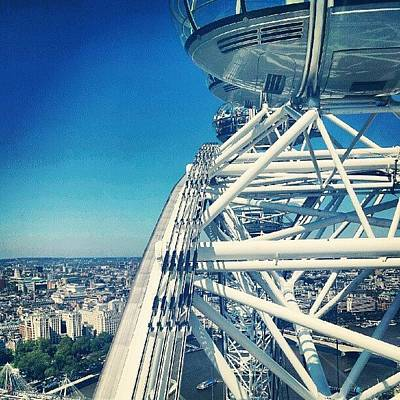 #londoneye #sky #clouds #high #london Poster