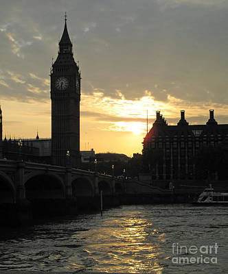 Poster featuring the photograph London's Golden Glow by Louise Peardon