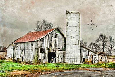 Poster featuring the photograph Lone Barn by Mary Timman