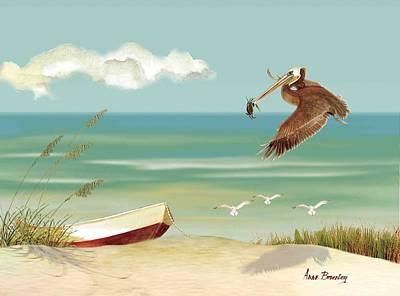 Lone Pelican Poster