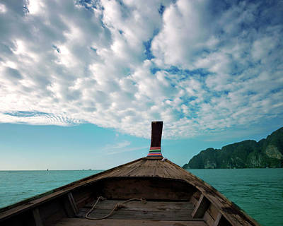 Long Boat In Andaman Sea Poster by Sharon Lapkin