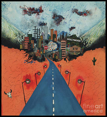 Long Road To Hollywood Poster by Nadene Merkitch