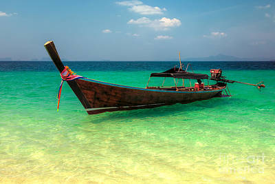 Longboat Thailand Poster by Adrian Evans