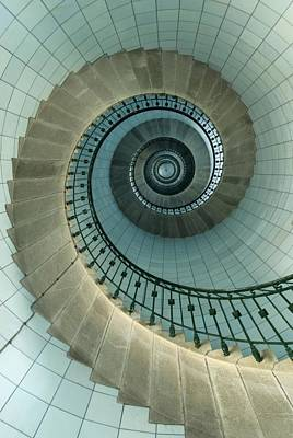 Looking Up The Spiral Staircase Of The Poster by Axiom Photographic