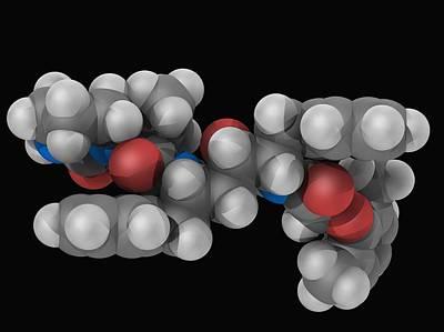 Lopinavir Drug Molecule Poster by Laguna Design