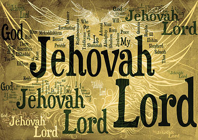 Lord Jehovah 2 Poster by Angelina Vick