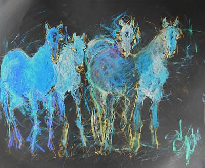 Los 4 Amigos 2 Poster by Elizabeth Parashis