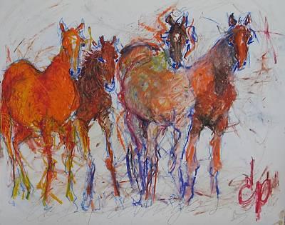 Los 4 Amigos Poster by Elizabeth Parashis