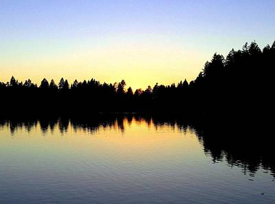Lost Lagoon Sunset Poster