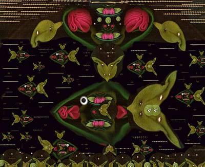 Lotus Fish Poster