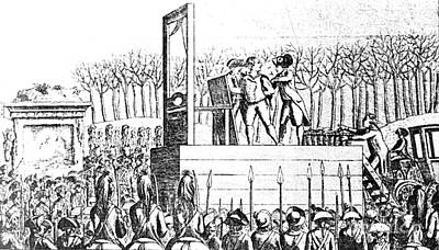 Louis Xvi, Being Led To The Guillotine Poster by Photo Researchers