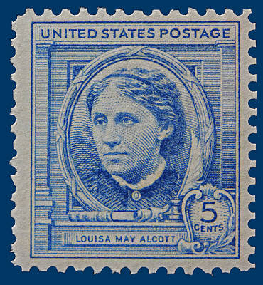 Louisa May Alcott Postage Stamp  Poster