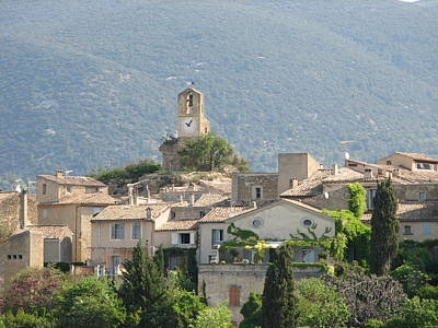 Poster featuring the photograph Lourmarin In Provence by Carla Parris