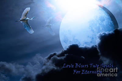 Love Blurs Two Souls For Eternity - Words Of Wisdom - 7d12372 Poster by Wingsdomain Art and Photography