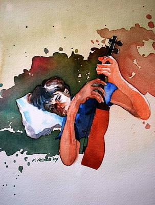 Love For Music Poster by V  Reyes
