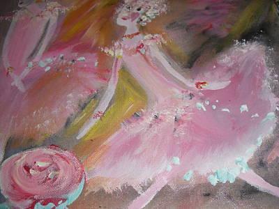 Love Rose Ballet Duet Poster by Judith Desrosiers