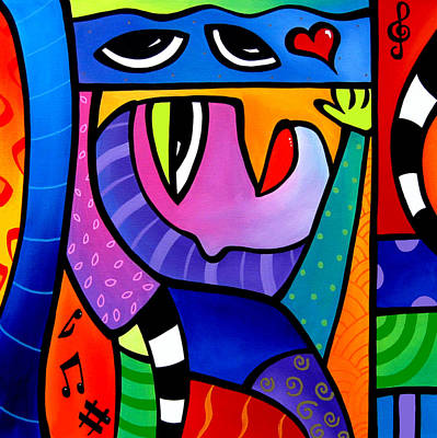 Love Song - Abstract Pop Art By Fidostudio Poster