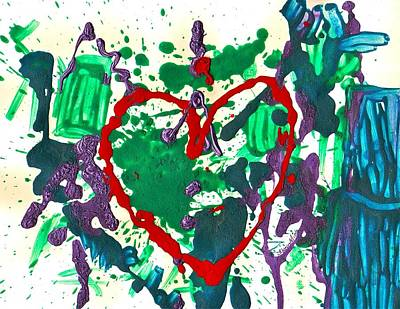 Poster featuring the painting Love Survives A Trashy Time by Sharon Mick