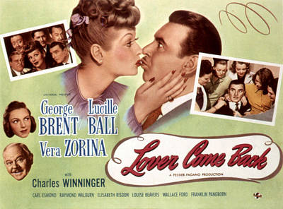 Lover Come Back, Lucille Ball, George Poster by Everett