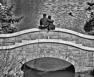 Lovers On A Bridge  Poster by Traci Cottingham