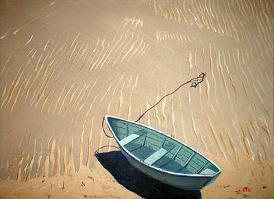 Poster featuring the painting Low Tide by Anthony Ross